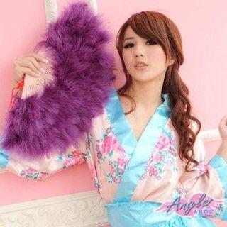 【天使霓裳】旗袍專用羽毛扇 角色扮演(深紫)