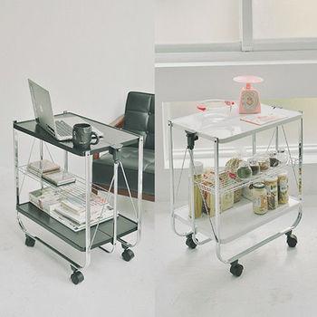 《舒適屋》奧斯頓多用途可折疊活動餐車/廚房架(2色可選)