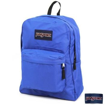JanSport 校園背包(SUPER BREAK)-風暴藍
