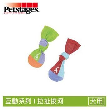 Petstages656 拋接彈力襪子球-XS 2入