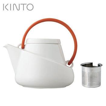 日本【KINTO】Ridge潤沏茶壺-紅-027439
