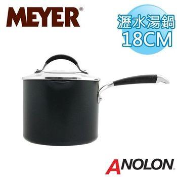 【美國美亞ANOLON】雅宴導磁單柄瀝水湯鍋3.3L/18CM (有蓋)_MA83454