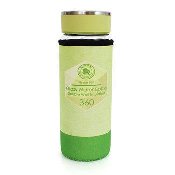 Green Bell雙層玻璃冷熱兩用隨行杯-360ml(綠)