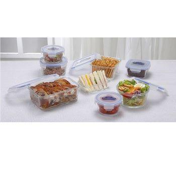 鍋寶耐熱玻璃保鮮盒優值組
