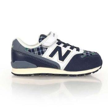 【NEWBALANCE】996系列 男女中童復古休閒鞋-寬楦 NB 格紋丈青