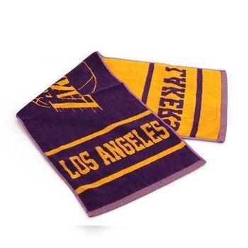 【NBA】湖人隊-美國職籃毛巾-中-純棉 LAKERS 紫黃