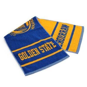 【NBA】勇士隊-美國職籃毛巾-中-純棉 WARRIORS 藍黃