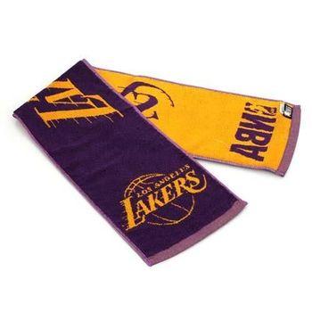 【NBA】湖人隊-美國職籃毛巾-小-純棉 LAKERS 紫黃