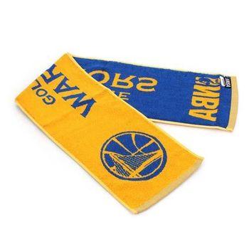 【NBA】勇士隊-美國職籃毛巾-小-純棉 WARRIORS 黃藍