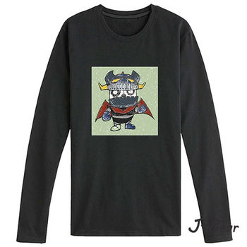 【J-Bear】JB017(手繪熊無敵鐵金剛長袖T恤)