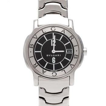 BVLGARI 寶格麗SOLOTEMPO系列石英仕女腕錶(黑-35mm)