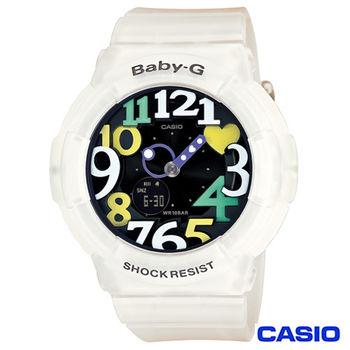 CASIO卡西歐 Baby-G超人氣霓虹照明果凍新色3D時刻繽紛錶 BGA-131-7B4