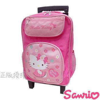 【Hello Kitty凱蒂貓】花漾三段式拉桿後背書包(粉色)