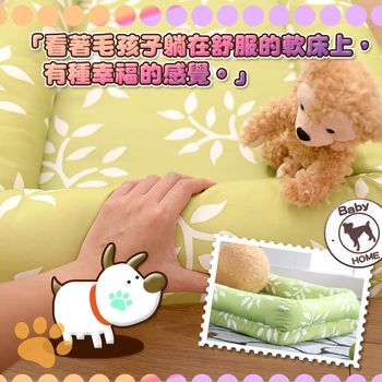 《Embrace英柏絲》 綠葉系列 寵物睡墊 寵物床 記憶床墊 (小) 60x40cm