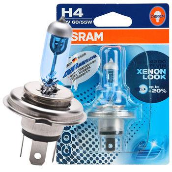 OSRAM 機車冰藍光燈泡 12V/60/55W 公司貨(H4)