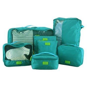 [fun bag]韓版 旅行收納7件組 收納袋 行李箱整理袋 盥洗包 包中包 大量收納箱