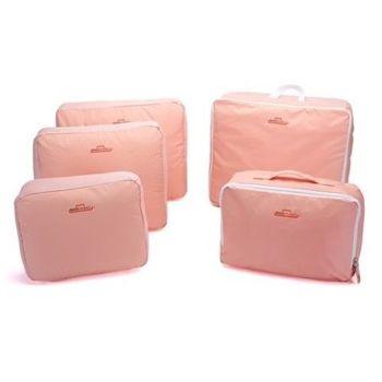 [fun bag]韓版 旅行 收納整理包 5件組 輕便包 行李箱 度假 旅遊 攜帶 收納