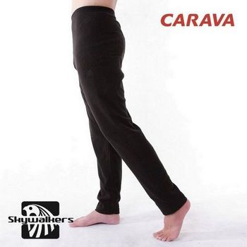 CARAVA保暖刷毛褲(黑)  180g/m2保暖透氣厚Fleece羔羊刷毛!