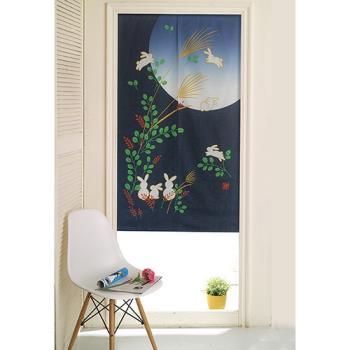 【巴芙洛】日式門簾 月下的兔子家族