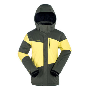 【聖伯納 St.Bonalt】男-亮彩素面防水保暖 休閒/滑雪 兩用外套-苔蘚綠(87108)