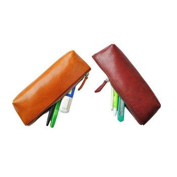 【zoeh forest】極簡 植鞣皮革筆袋 筆刷收納袋 (多色)