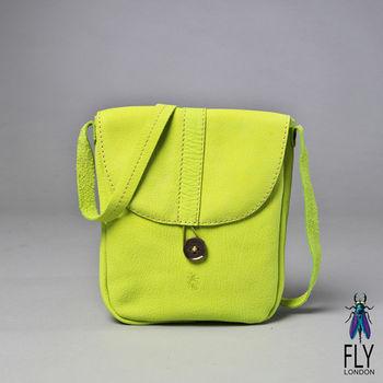 Fly London - 彩染小牛皮口袋式CROSS斜背包 - 青綠