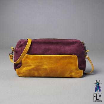 Fly London - 長盒子 放大版雙色筆盒包 -黃包紫