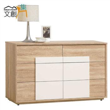 【文創集】多莉絲 4尺橡木色六斗櫃
