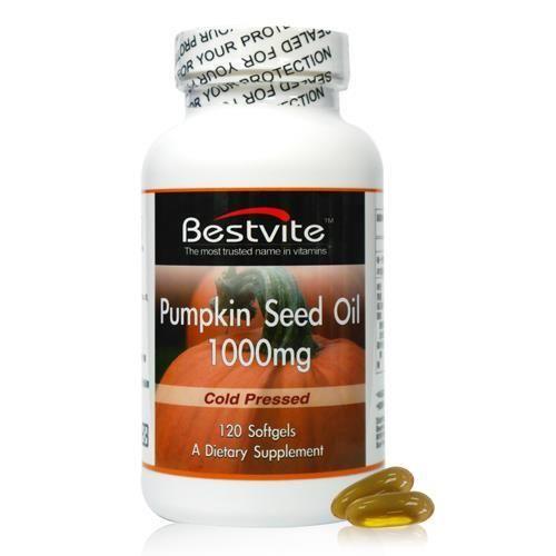 【美國BestVite】必賜力天然南瓜籽油膠囊1瓶 (120顆)