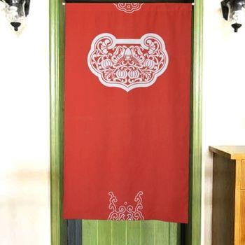 【協貿】中國風水高檔防蚊招鎖紅色布藝門簾