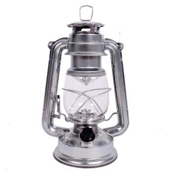 【韓國熱銷】復古油燈型LED營燈(繽紛版) 銀色