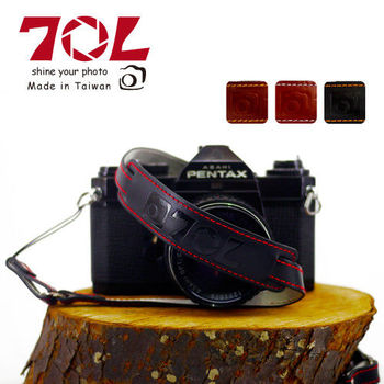 70L SWL1216 COLOR STRAP 真皮彩色相機背帶(尊爵黑紅)