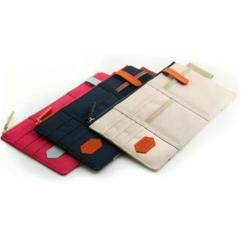 [fun bag]韓版 萬用多功能 汽車遮陽板收納包 車用掛袋 小物收納袋 收納夾