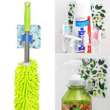 【日本MAKINOU】環保無痕魔術貼超值組(牙刷架+工具夾+沐浴器掛鉤)