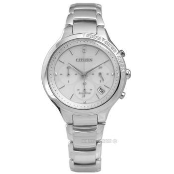 CITIZEN 星辰表 / FB4000-53A / 經典優雅Hebe配戴廣告款光動能不鏽鋼腕錶 灰色 37mm