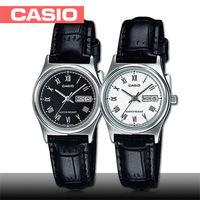 ~CASIO 卡西歐~送禮 ^#45 簡約 皮革女錶 ^#95 鏡面3x2.5cm ^#4