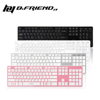 【B.Friend】RF-1430K 2.4G無線鍵盤 (黑/白/粉紅)