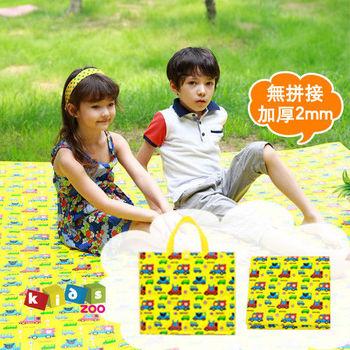 【kids zoo】加厚款童趣造型野餐墊_開車小熊