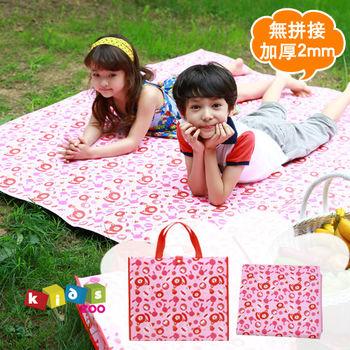 【kids zoo】加厚款童趣造型野餐墊_甜點小熊