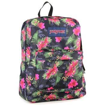 JanSport校園背包(SUPER BREAK)-熱帶花叢