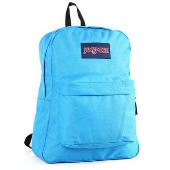 JanSport校園背包(SUPER BREAK)-土耳其藍