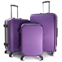 ~WALLABY~20 ^#43 24 ^#43 28吋直條紋ABS鋁框行李箱 ^#47