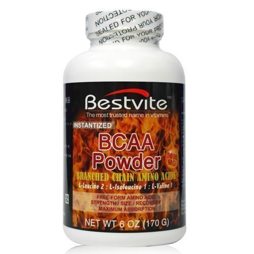 【美國BestVite】必賜力BCAA支鏈胺基酸粉末1瓶 (170公克)