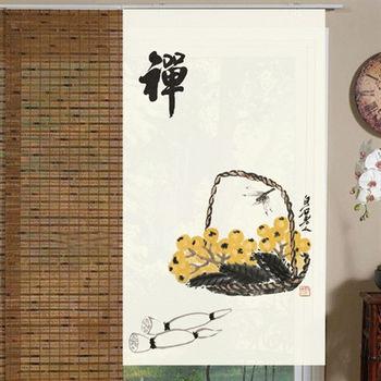 【協貿】簡約中式風水棉麻禪布藝門簾