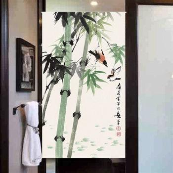 【協貿】簡約中式風水棉麻節節高升布藝門簾