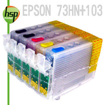 EPSON 73HN+103 滿匣 五色 填充式墨水匣  T1100