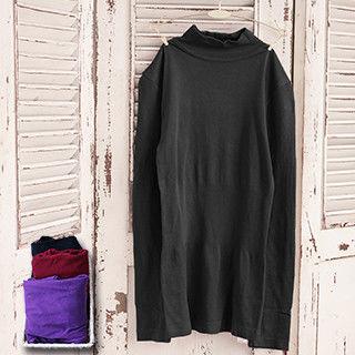 【MFN蜜芬儂】高領莫代爾3D合身長版保暖衣2件組(顏色隨機)