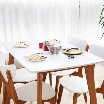 【HD】LAVIN 日式木作餐桌 - 白/綠 兩色可選