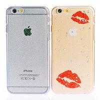 ifive iPhone 5 ^#47 5S自動修護TPU閃粉保護殼 ^#45 香豔紅唇款