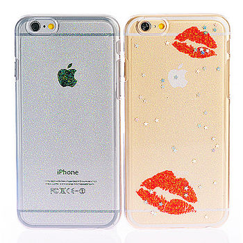 ifive iPhone 5/5S自動修護TPU閃粉保護殼-香豔紅唇款